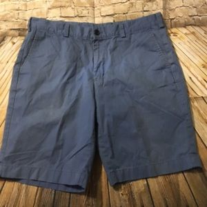 Brooks Brothers Blue Chino Flat Front Shorts